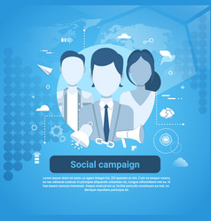 Social campaign marketing business concept web vector