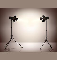 Standing Spotlights Background vector image