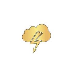 Storm computer symbol vector
