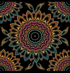 Tapestry floral abstract seamless mandala vector