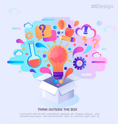think outside the box vector image