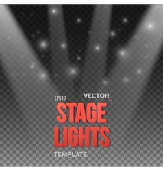Transparent Studio Stage Light Effect vector image