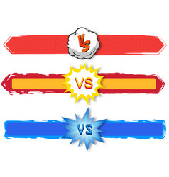 Versus letters fight backgrounds comics vector