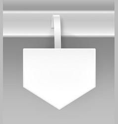 white arrow papper advertising price wobbler vector image