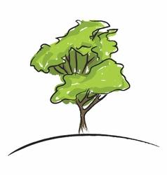 Big tree drawing vector image vector image