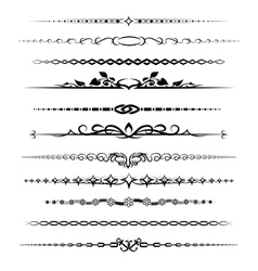 Chapter dividers set vector image vector image