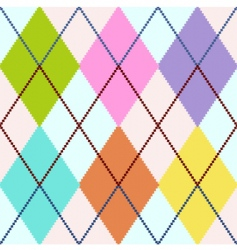 colorful argyle vector image vector image