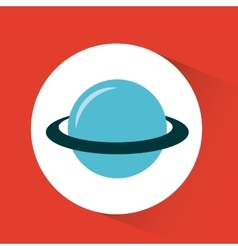 planet saturn design vector image