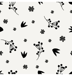 Christmas Floral Seamless Pattern vector image vector image