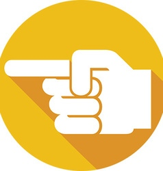 Finger Point Icon vector image vector image