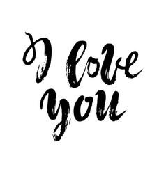 i love you postcard phrase for valentine s day vector image