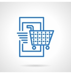 Mobile store icon simple line style vector image