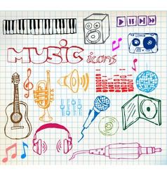 music sketch vector image