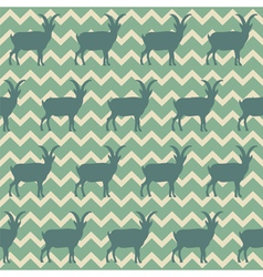 Seamless pattern with goats Symbol of 2015 vector image