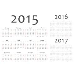 Set of european year calendars vector image vector image