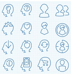 Universal peaople theme GUI icons set vector image vector image