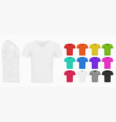 black white and other basic color men simple t vector image
