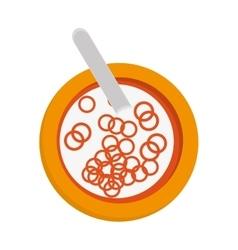 Cereal bowl icon vector