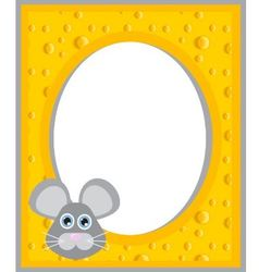 cheese frame vector image vector image