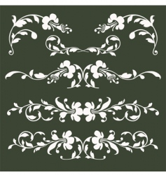 floral borders vector image vector image