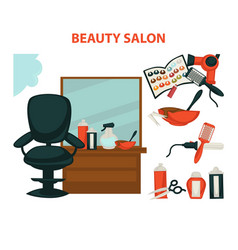 hairdresser or hair beauty salon hairdressing vector image