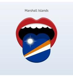 Marshall Islands language Abstract human tongue vector image vector image