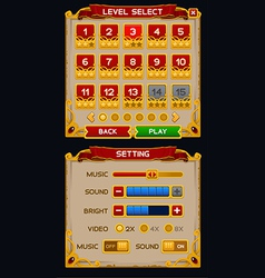 Medieval game GUI pack vector image vector image