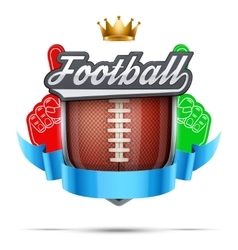 Premium symbol of American Football label vector image vector image