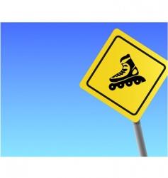 traffic sign roller sky background vector image