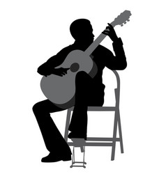 young man playing acoustic guitar vector image vector image
