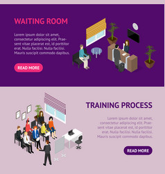 business training or coaching service banner vector image vector image