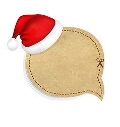 Old Banner With Cap Of Santa Claus vector image vector image
