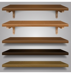 - wood shelves vector