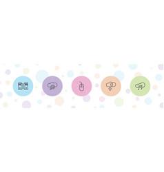 5 computing icons vector