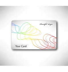 Abstract gift Card with colorful curve vector image
