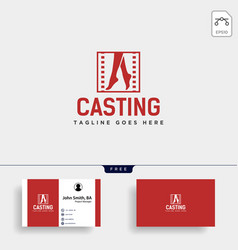 Acting show or casting movie simple logo template vector