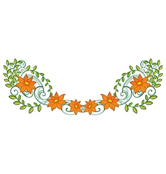 An orange and green border vector image