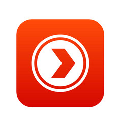 arrow to right in circle icon digital red vector image