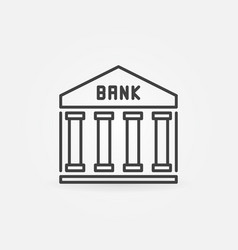 Bank outline icon vector