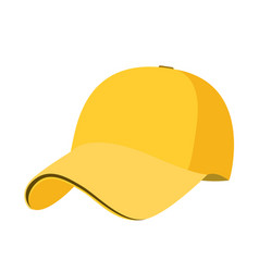Baseball cap icon flat isolate on a white vector