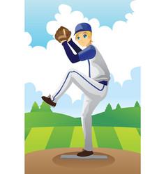 baseball player vector image