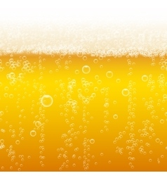 Beer foam background horizontal seamless beer vector image