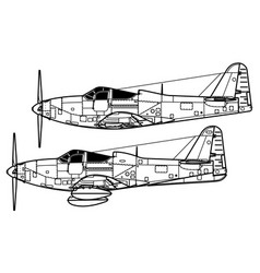 bell p-63a-c kingcobra vector image