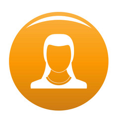 Best woman user icon orange vector