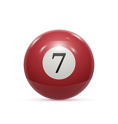 Billiard seven ball isolated on a white background vector