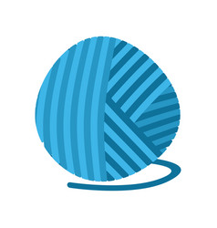 Blue ball of yarn threads bundle of wool for vector