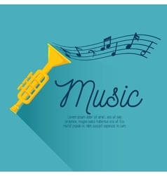 card music trumpt note vector image