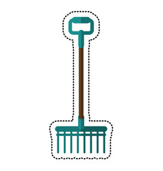 Cartoon rake agriculture tool image vector
