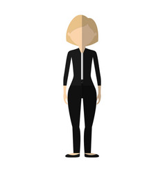 character woman faceless image vector image