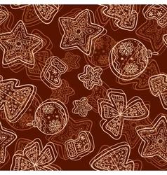 Christmas dark chocolate seamless pattern vector